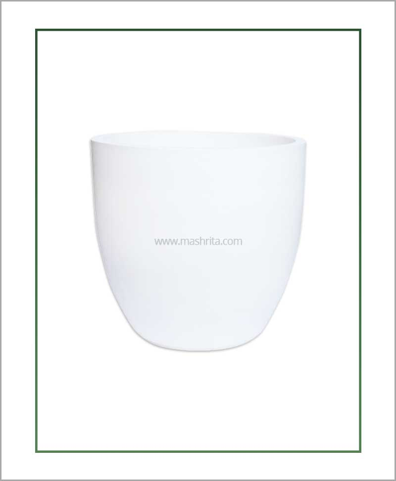 Fiber-Planter-White-16-Inch-(Cup-Shaped)