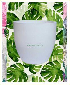 Fiber-Planter-White-16-Inch-(Cup-Shaped)_Mashrita