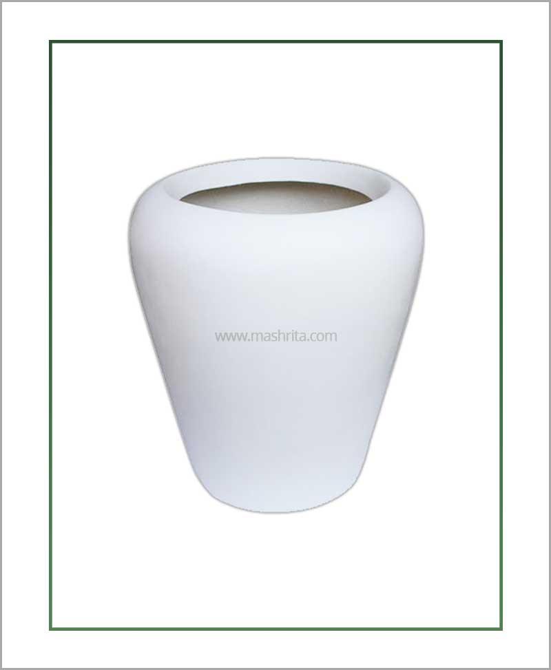 Fiber-Planter-White-16-Inch(Apple)