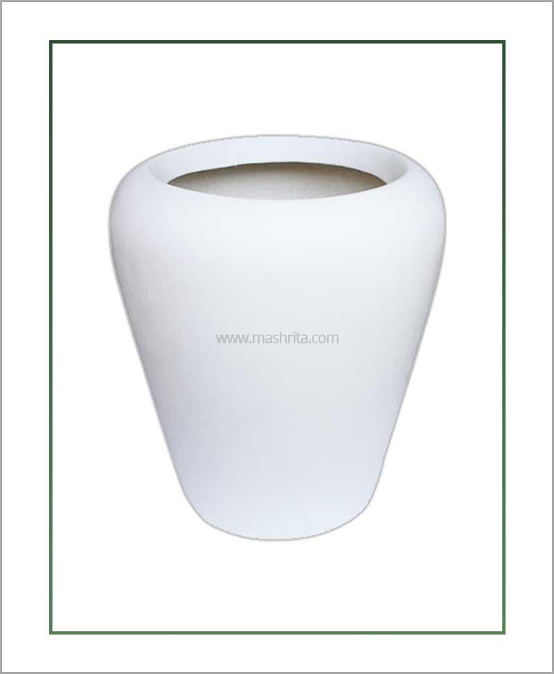 Fiber-Planter-White-18-Inch(Apple)