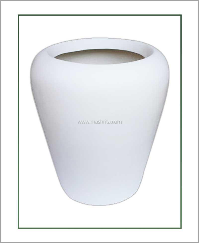 Fiber-Planter-White-24-Inch(Apple)