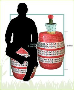 Garden Ceramic Moda (Coral Red)
