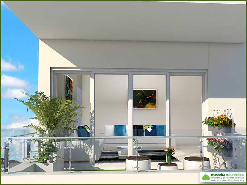 Balcony Garden Three Side Open - Modern Garden