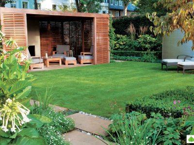 Modern Villa Landscaping India