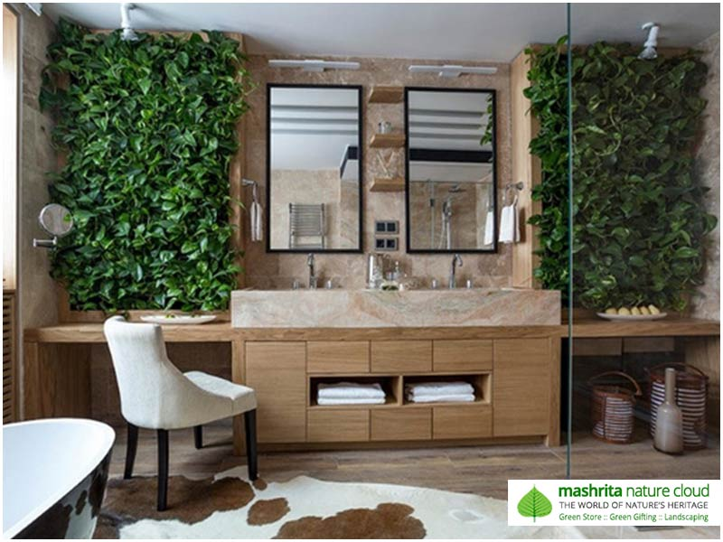 Indoor Plantscaping Washrooms