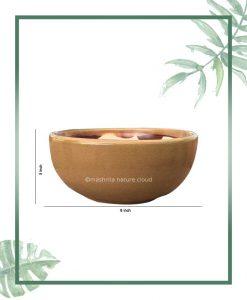 Ceramic Bonsai B owl Tray Planter - Glazed Mustard 8 inch