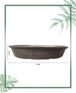 Ceramic Bonsai Tray Planter - Glazed 13 inch