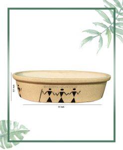 Ceramic Bonsai Tray Planter - Matt 13 inch