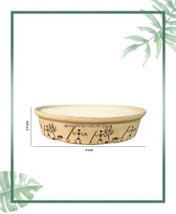 Ceramic Bonsai Tray Planter - Matt 9 inch