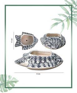 Ceramic Fish - Bonsai Tray Planter - Fish Shape Matt 12 inch