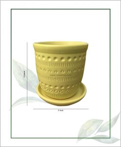 Ceramic Round Table Top Planter Pastel Green 5.5 inch