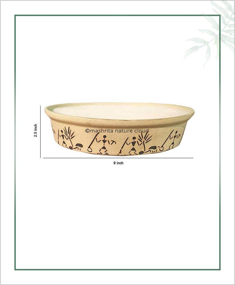 Ceramic Bonsai Tray Planter - Matt 9 inch