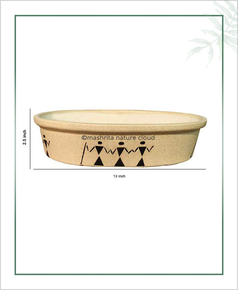 Ceramic Bonsai Tray Planter - Matt 13 inch