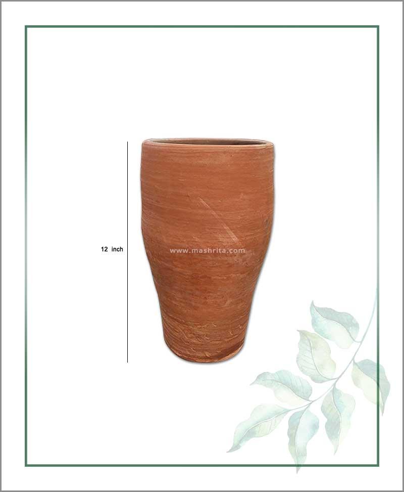 Terracotta 12 inch Elongated Shape Planter