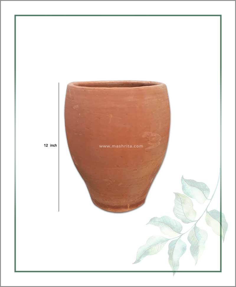 Terracotta 12 inch Oval Shape Planter