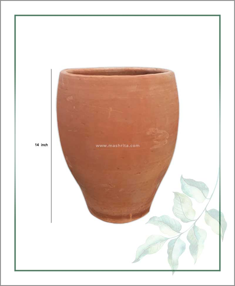 Buy Terracotta 14 inch Oval Shape Planter