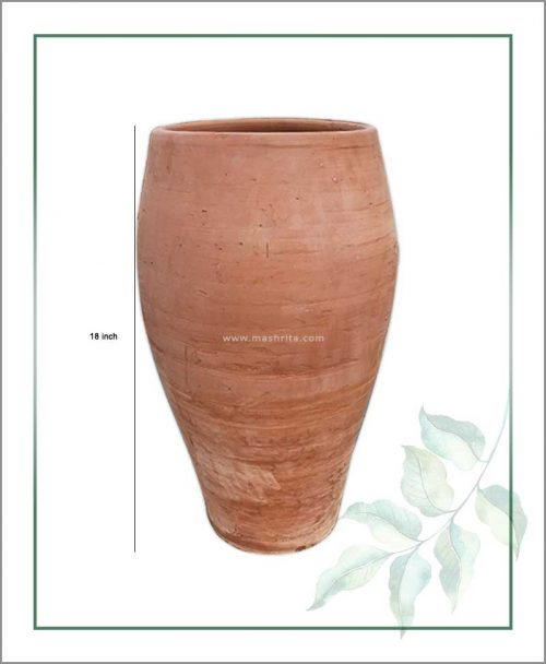 Buy Terracotta 18 inch Oval Shape Planter