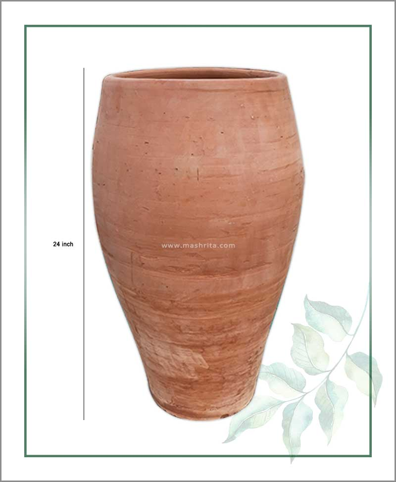 Buy Terracotta 24 inch Oval Shape Planter