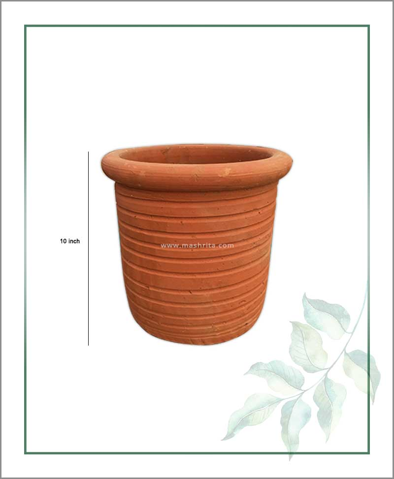 Terracotta Round Shape 10 inch Planter