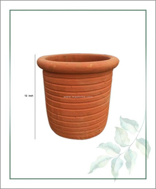 Terracotta Round Shape 12 inch Planter