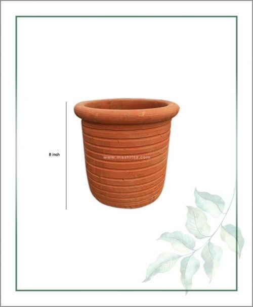 Terracotta Round Shape 8 inch Planter