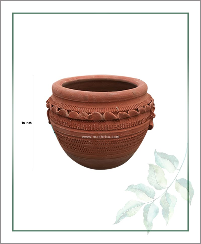 Terracotta Semi Circle 10 inch Planter