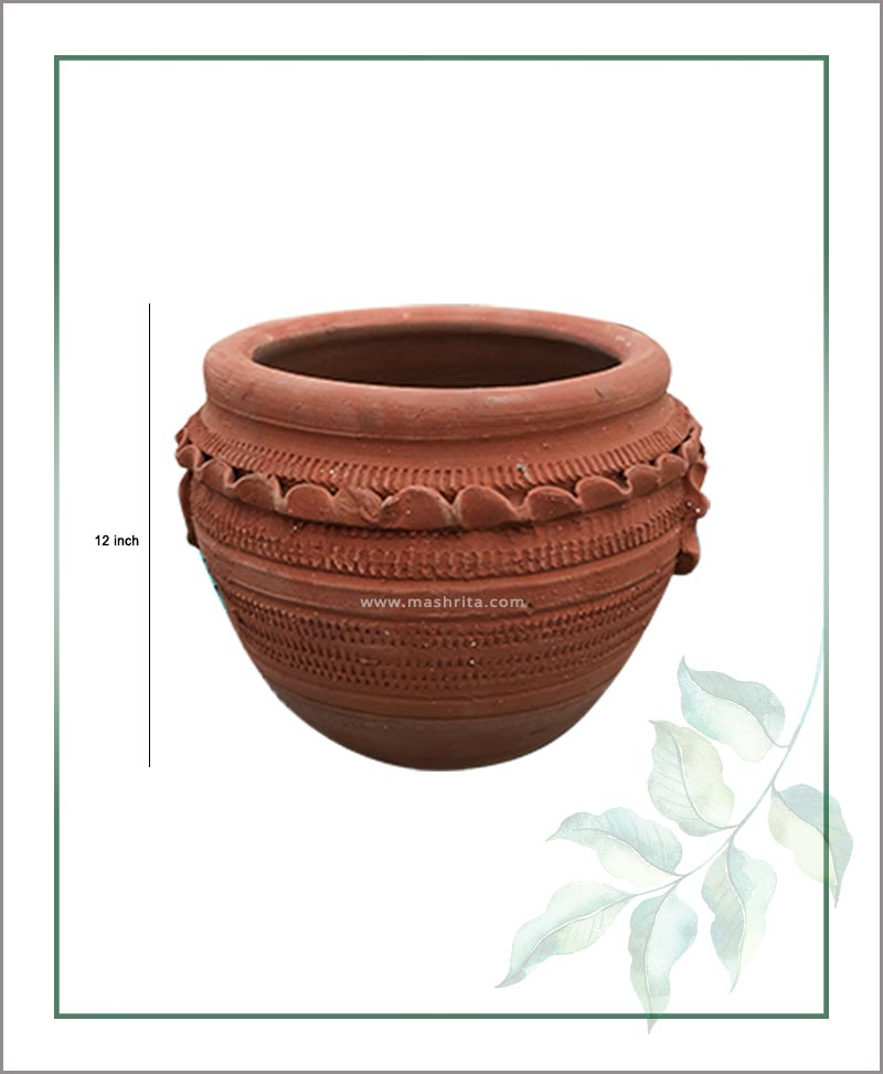Terracotta Semi Circle 12 inch Planter