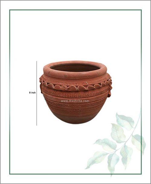 Terracotta Semi Circle 8 inch Planter