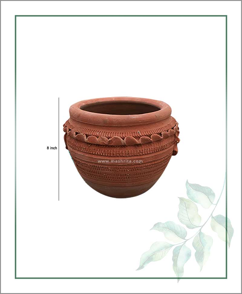 Terracotta Semi Circle 8 inch Planter