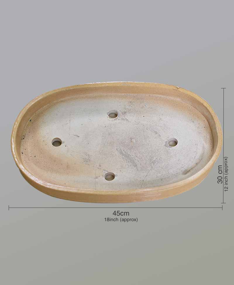 Ceramic Bonsai Tray 18 inch Beige Color