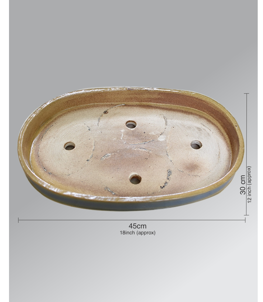 Ceramic Bonsai Tray 18 inch Dual Color