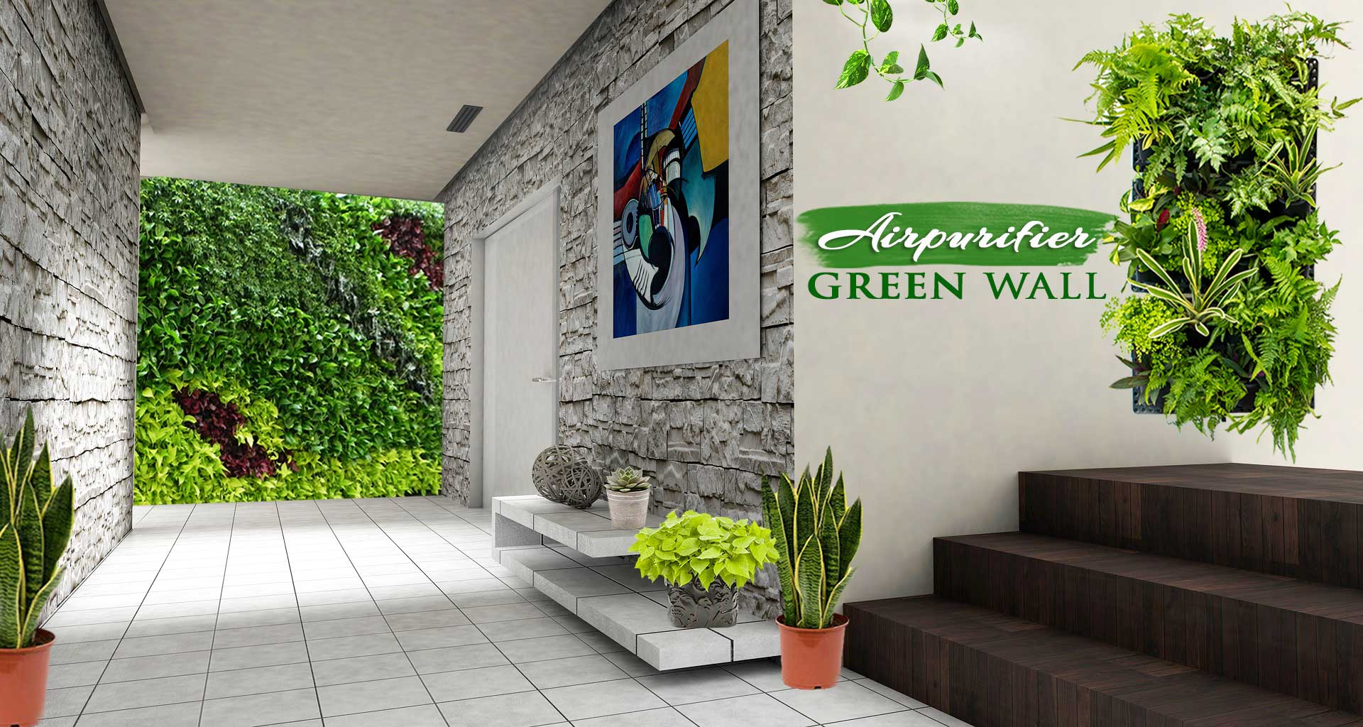 Air Purifier Green Wall Live Oxygen Wall - Green Wall India