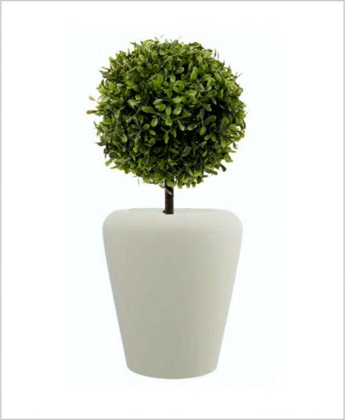 Apple Shape Fiber Planter 30 inch, Indoor - Outdoor Planter