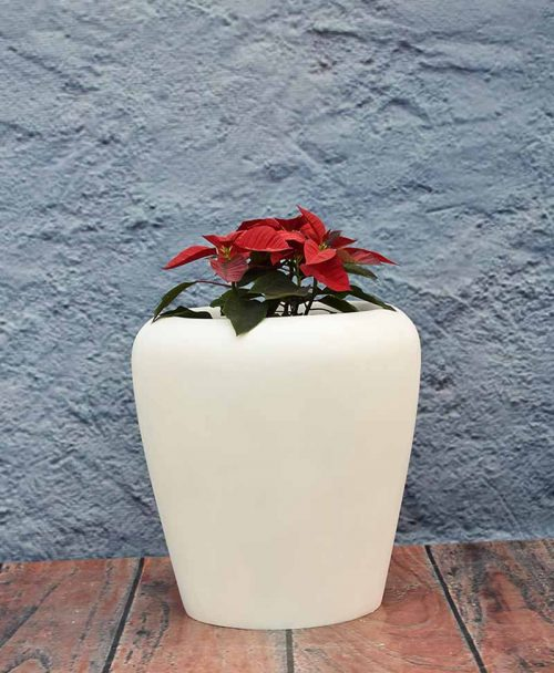 Apple Shape Fiber Planter 18 inch