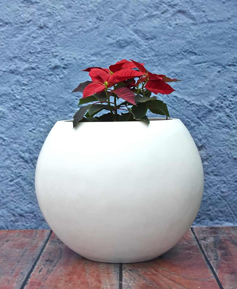 Ball Shape Planter 20 inch, Indoor - Outdoor Fiber Planters