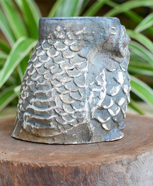 Ceramic Designer Owl Planter Back