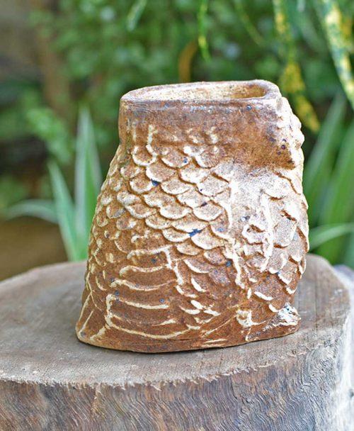 Ceramic Designer Owl Planter Brown Right