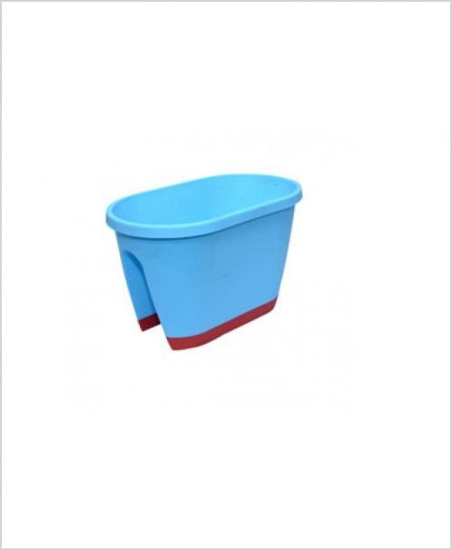 Buy Big Plastic 20 inch Railing Planter (Sky Blue Color)
