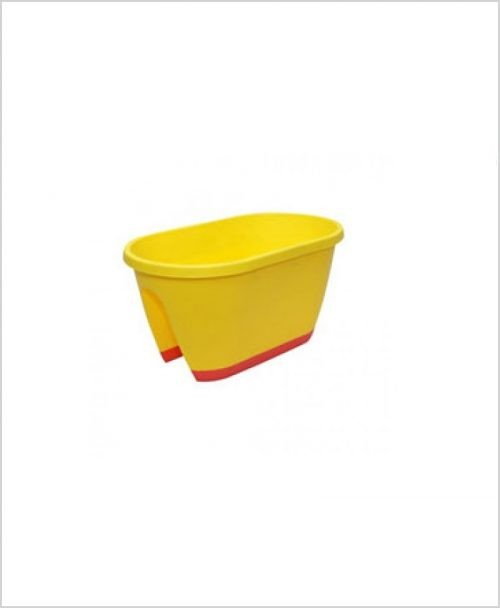 Buy Big Plastic 20 inch Railing Planter (Yellow Color)