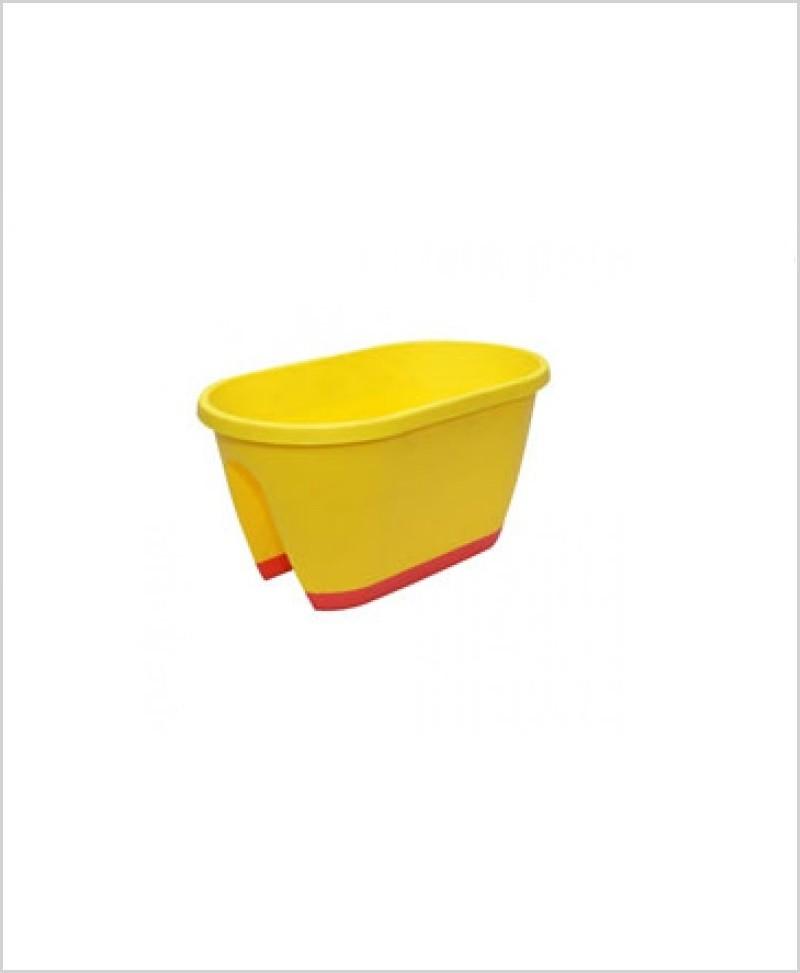 Buy Big Plastic 20 inch Railing Planter (Yellow Color)