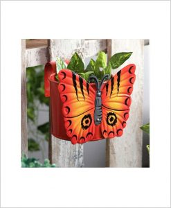 Buy Metal Butterfly Planter Red