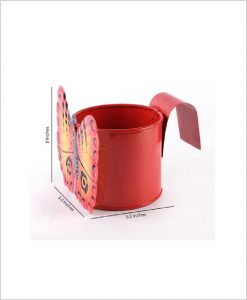 Buy Metal Butterfly Planter Red Dia