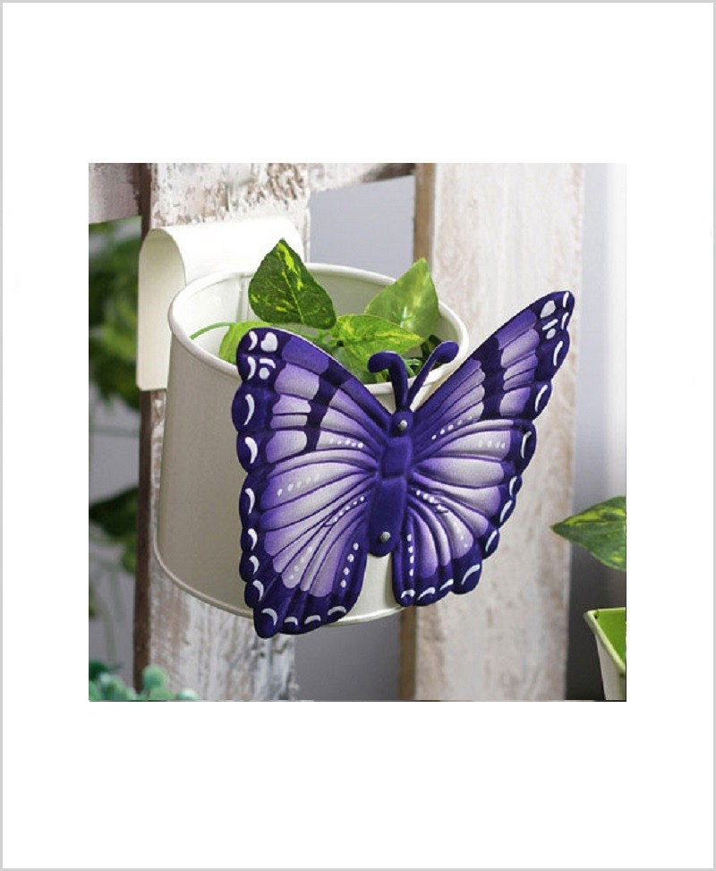 Buy Metal Butterfly Planter White