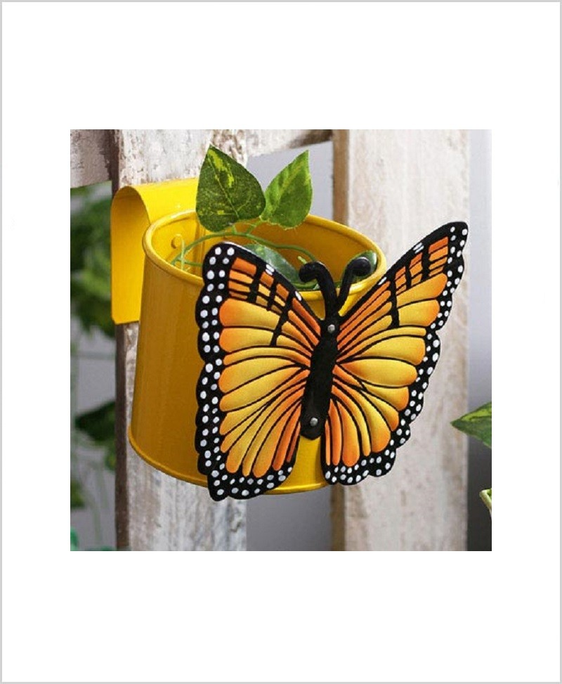 Buy Metal Butterfly Planter Yellow
