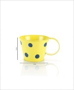 Buy Metal Cup Polka Planter Yellow Dia