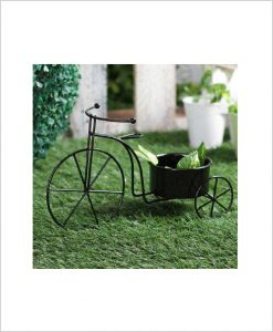 Buy Metal Cycle Planter Black