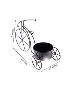 Buy Metal Cycle Planter Black Dia
