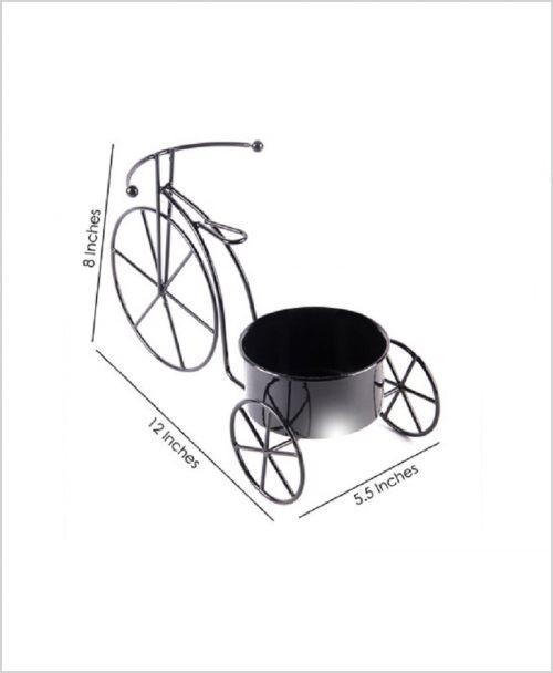 Buy Metal Cycle Planter Black Dia