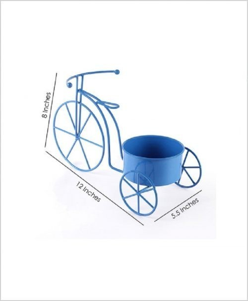 Buy Metal Cycle Planter Blue Dia