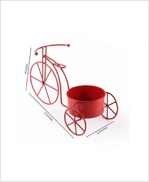 Buy Metal Cycle Planter Red Dia